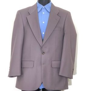 Burberry Taupe Vintage Sport Coat 100% Wool